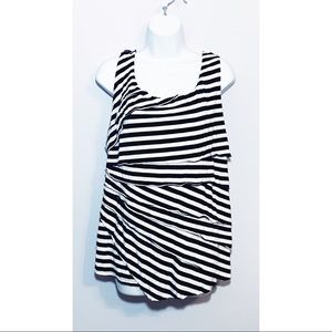 Torrid SUPER SOFT STRIPED TIERED TANK